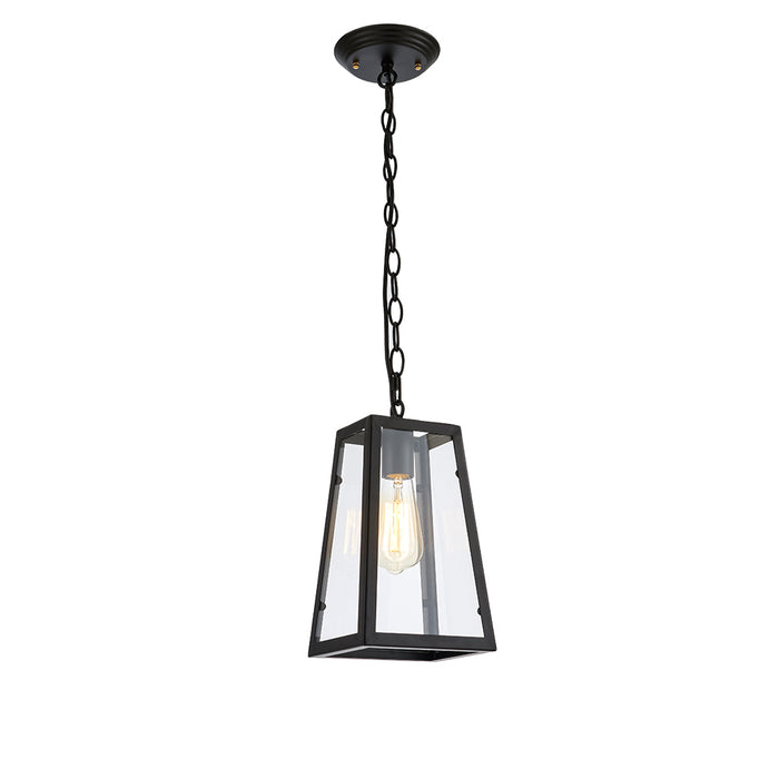 Vintage Inspired Glass Pendant Light - Bulb Included