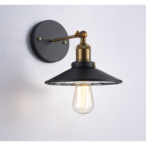 "Ohr Lighting Edison Wall Sconce 8.5"" Vintage Glass Shade industrial style Adjustable Top"