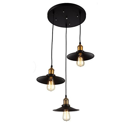 OHR Lighting® ED260P1-3 Edison 3 Pendant Industrial Light Fixture