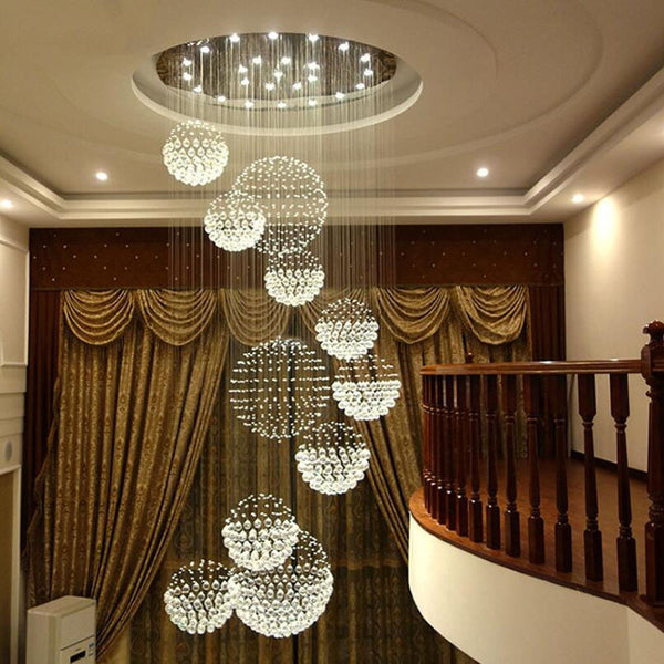 Long crystal chandelier lighting lustres lampadari modern stage chandelier LED light, clear crystal lighting fixtures
