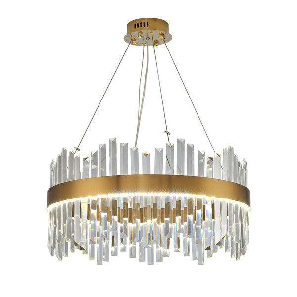 Luxury Crystal Chandelier Lighting For Large Living Room Round Dining Room Crystals House Decoration Lamps LED Lamp