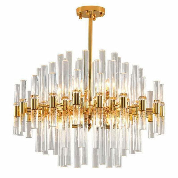 Luxury design modern chandelier LED lights Round dnning chandelier bedroom living room lamp gold