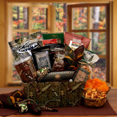 Camo Gift Basket for Hunters
