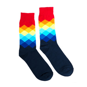 Faded Diamond Socks