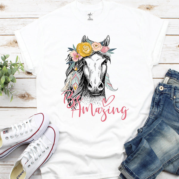 T-shirt cheval Amazing
