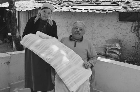 A community of weavers of traditional Turkish pestemal towels