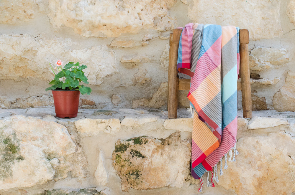 Leah Cotton Towel - Indigo Traders