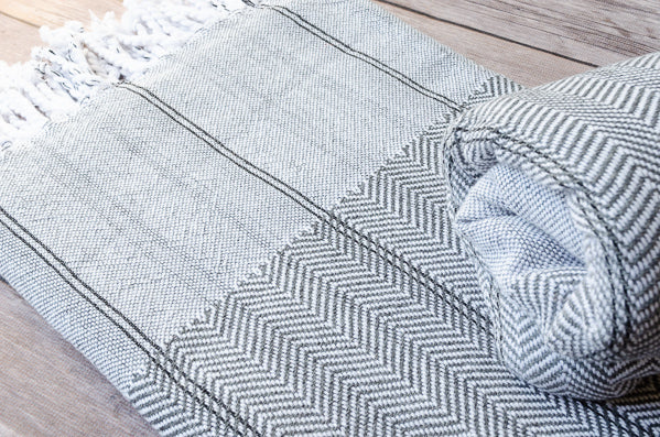 Herringbone Cotton Towel - Indigo Traders
