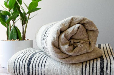 Black Linen Towel - Indigo Traders