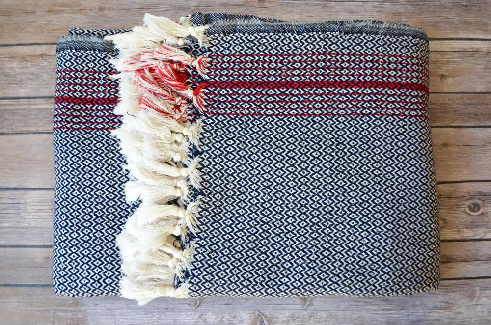Daphne Cotton Blanket - Indigo Traders
