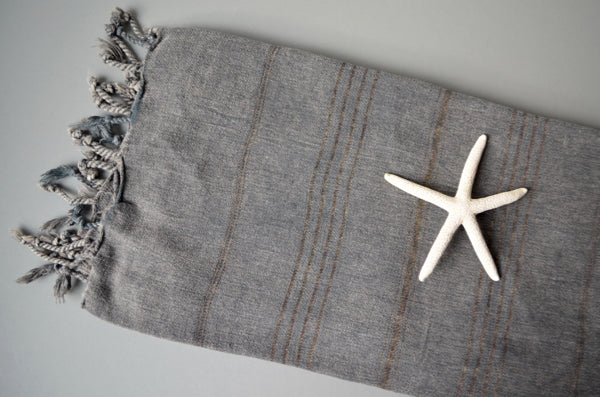 Stonewash Cotton Towel - Indigo Traders