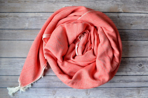 Herringbone Cotton Throw