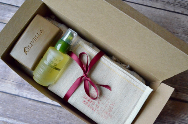 Linen + Olive Gift Box - Indigo Traders