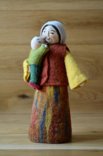 Felted Mother and Child - Handmade - Wool