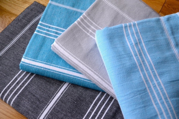 Fringeless Turkish Towel - Indigo Traders