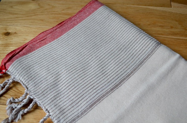 Matta Raw Silk Towel - Authentic Turkish Towel - Eco-friendly Hammam Towel - Perfect Travel Towel - Pestemal - Peshtemal - Lightweight Towel with Fringe