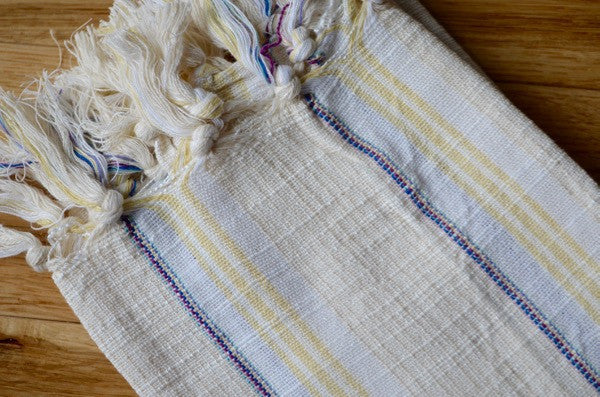 Hassa Linen Hand Towel - Authentic Turkish Towel - Eco-friendly Hammam Towel - Perfect Travel Towel - Pestemal - Peshtemal - Lightweight Towel with Fringe
