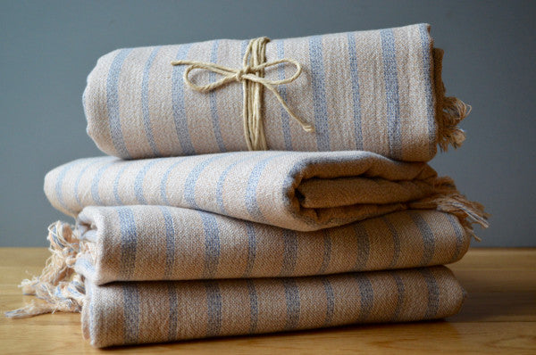 Mardin Linen Towel - Authentic Turkish Towel - Eco-friendly Hammam Towel - Perfect Travel Towel - Pestemal - Peshtemal - Lightweight Towel with Fringe