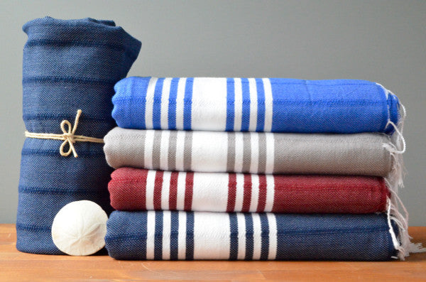 Kapi Cotton Towel - Authentic Turkish Towel - Eco-friendly Hammam Towel - Perfect Travel Towel - Pestemal - Peshtemal - Lightweight Towel with Fringe