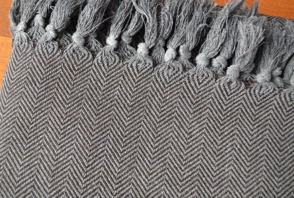 Herringbone Cotton Blanket - Indigo Traders