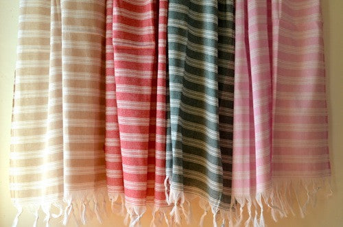 Ultralight Cotton Towel - Authentic Turkish Towel - Eco-friendly Hammam Towel - Perfect Travel Towel - Pestemal - Peshtemal - Lightweight Towel with Fringe