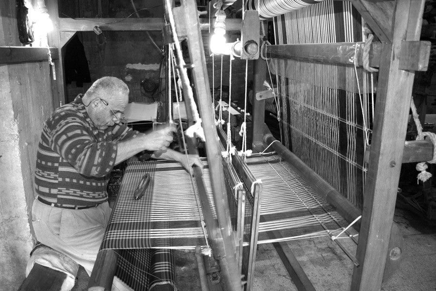 Silk weaver in Turkey