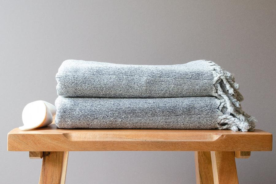 Virgil Raw Silk Towel - Indigo Traders