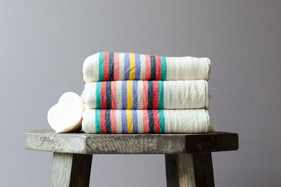 Soukeyna Linen Hand Towel - Indigo Traders