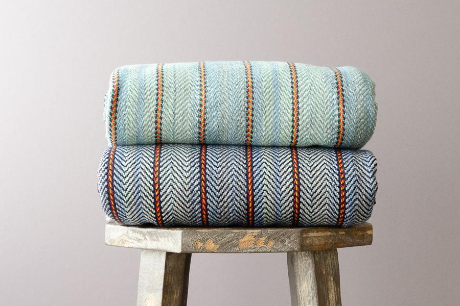Riley Cotton Throw - Indigo Traders