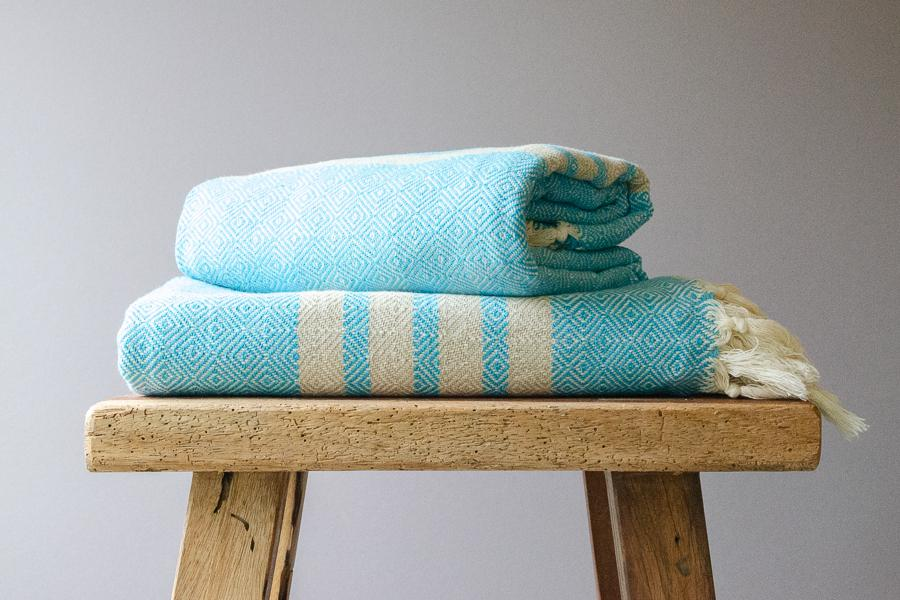 Bella Cotton Throw - Indigo Traders