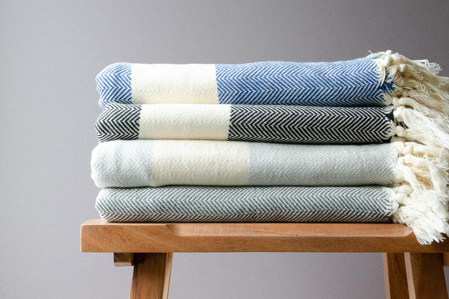 Lucia Cotton Throw - Indigo Traders