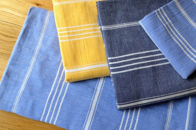 Fringeless Turkish Towels - Indigo Traders