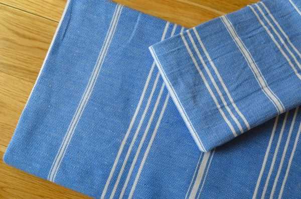 Fringeless Pestemal Towel - Authentic Turkish Towel - Eco-friendly Hammam Towel - Perfect Travel Towel - Pestemal - Peshtemal