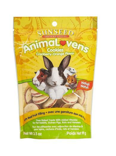 Sunseed AnimaLovens Cookies Cranberry-Orange Flavor 3.5oz