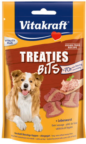 Vitakraft Treaties Bits Liver Sausage 120g (6pcs/carton)
