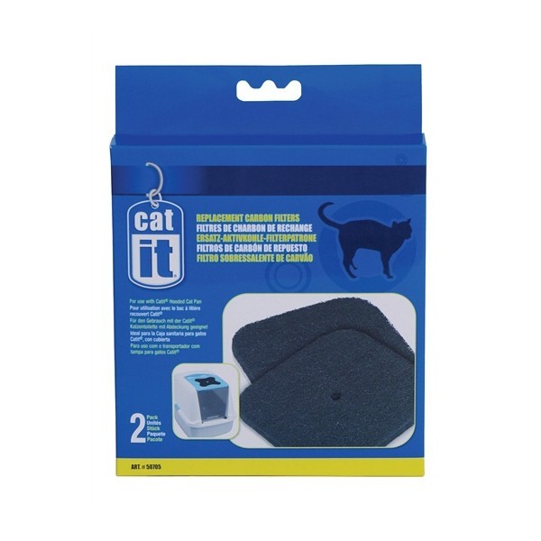 CATIT HOODED CAT PAN REPLACEMENT CARBON FILTERS 2-PACK