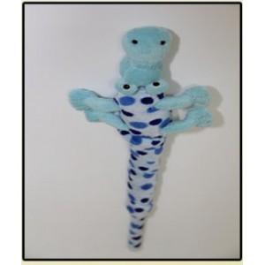 SANXIA SOFT ANIMAL TEASER CROCODILE BLUE