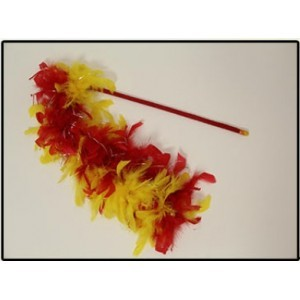SANXIA FEATHER TEASER RED & YELLOW