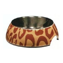 54525 STYLE BOWL WITH PATTERNS AND STAINLESS STEEL INSERT - ANIMAL