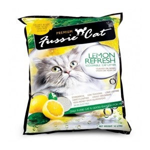 FUSSIE CAT LITTER LEMON REFRESH 10L