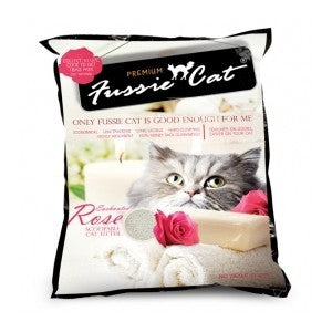 FUSSIE CAT LITTER ENCHANTED ROSE 10L
