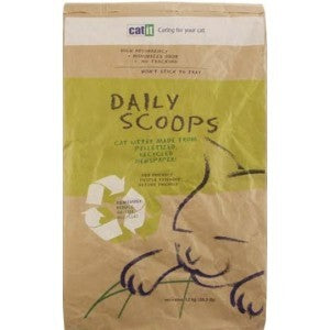 DAILY SCOOPS RECYCLED PAPER CAT LITTER 6KG