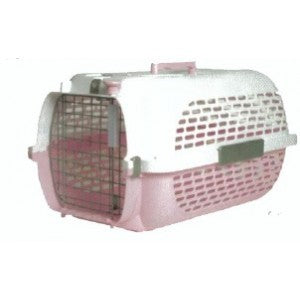 50886 CATIT VOYAGEUR PET CARRIER - WHITE/PINK