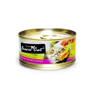 FUSSIE CAT PREMIUM TUNA WITH CHICKEN 3OZ X 24