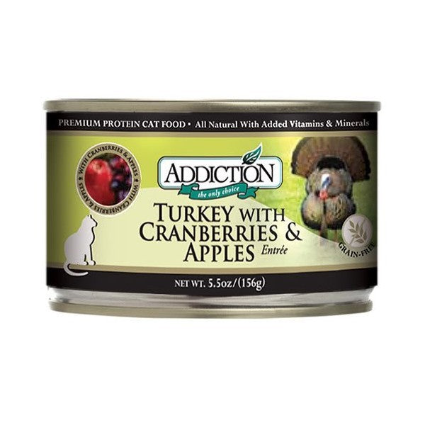 ADDICTION CAT TURKEY W CRANBERRIES & APPLES ENTRÉE GRAIN FREE 156G X 24CANS