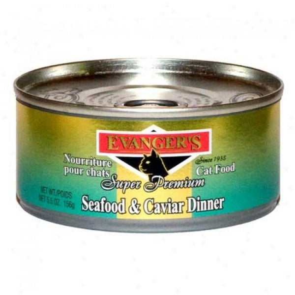 EVANGERS SEAFOOD AND CAVIAR CAT CANNED FOOD 156G X 24CANS