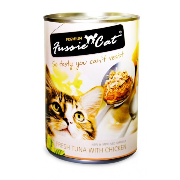 FUSSIE CAT FRESH TUNA WITH CHICKEN 400G X 24 CANS