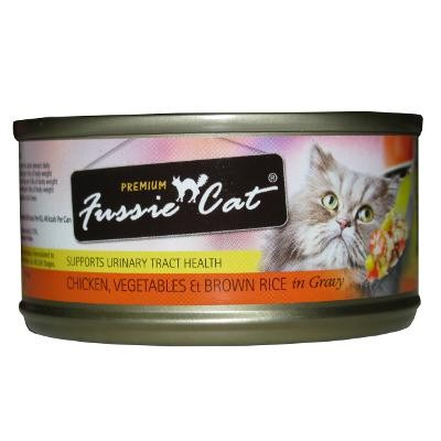 FUSSIE CAT PREMIUM CHICKEN, VEGETABLES AND BROWN RICE 3OZ X 24CANS