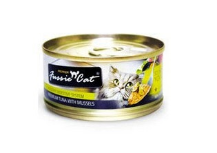 FUSSIE CAT PREMIUM TUNA WITH MUSSELS 3OZ X 24CANS