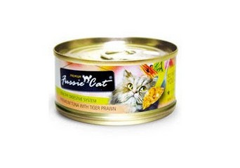 FUSSIE CAT PREMIUM TUNA WITH TIGER PRAWNS 3OZ X 24CANS